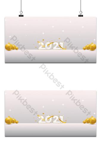 新年快樂問候2021年白色背景上的豪華設計 背景 模板 EPS