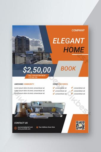 Modèle de conception de flyer de vente de propriété immobilière Modèle EPS