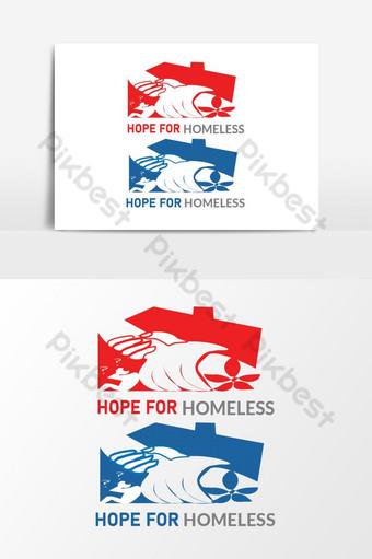 Mano de ayuda sin hogar Este logotipo adecuado para el logotipo de la organización Elementos graficos Modelo AI