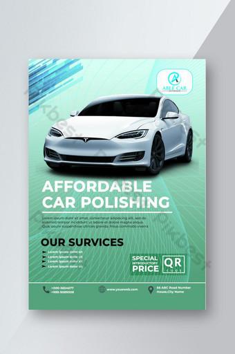Modèle de flyer de polissage de voiture d'idées élégantes de conception innovante propre et simple Modèle PSD