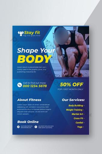 Conception de flyer Fitness Flyer Gym Modèle AI