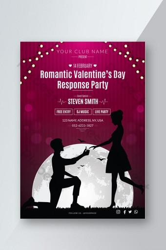 Conception de flyer pour la fête de la Saint-Valentin Modèle AI