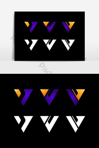 Diseño de logotipo de letra V Letras modernas creativas Vector icono Logo ilustración Elementos graficos Modelo AI