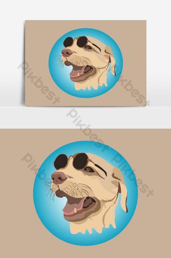 لطيف كلب لابرادور حيوان ثلاثة أشهر ناقلات عنصر الرسم صور PNG قالب AI