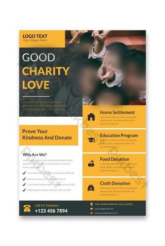 bonne charité amour vie charité existence flyer a4 flyer Modèle EPS