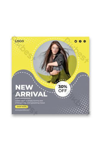 baru kedatangan fashion sale banner template posting media sosial Templat AI