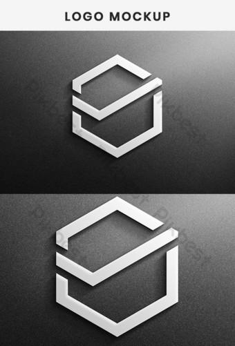 Maqueta de logotipo moderno en tarjeta de papel Plantilla de maqueta de logotipo 3D realista Modelo PSD
