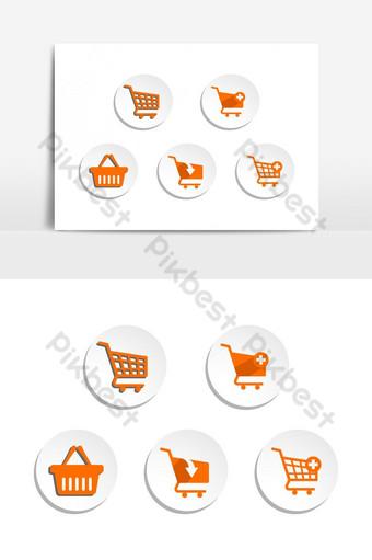 Icono de carro de compras diseño plano mejor icono de vector UI Modelo AI