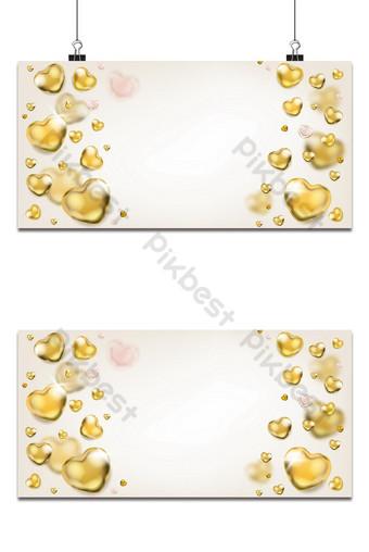Elegante fondo claro con corazones dorados brillantes Fondos Modelo EPS