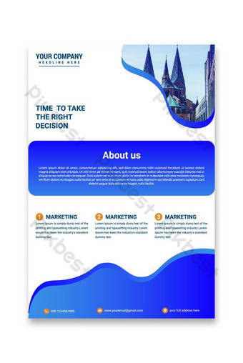 idée de conception de flyer entreprise créative Modèle EPS