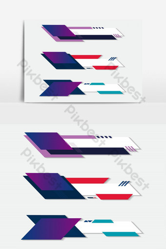 Lower third white and colorful design template modern contemporary. Set of banners bar PNG Images Template AI