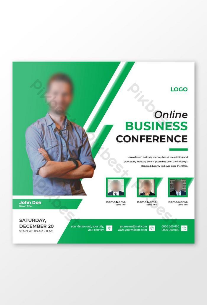 templat reka bentuk persidangan dalam talian perniagaan korporat