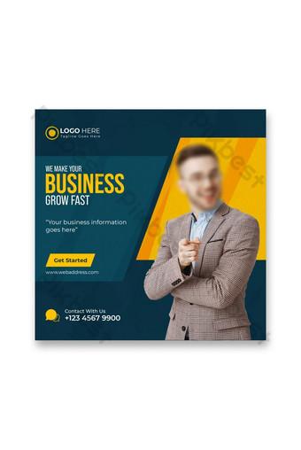 Business marketing médias sociaux post facebook post amp bannière web Modèle Premium Modèle PSD