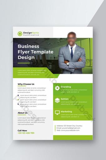 Modèle de flyer d'entreprise accrocheur créatif vert moderne PSD Télécharger Modèle AI