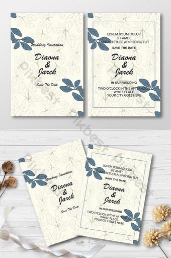 Modèle de conception de carte d'invitation de mariage avec fond floral de luxe Modèle AI