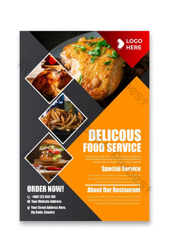 Restaurant flyer and food poster design templates Template AI
