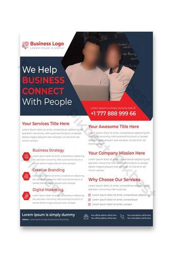 Latest Corporate Business Services Flyer Template Design Template AI