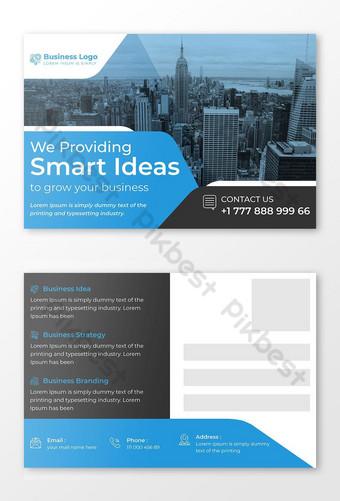 Conception de cartes postales professionnelles pour la promotion des entreprises Modèle AI