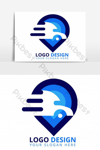 Delivery Location Logo Design. Delivery Logo PNG Images Template AI