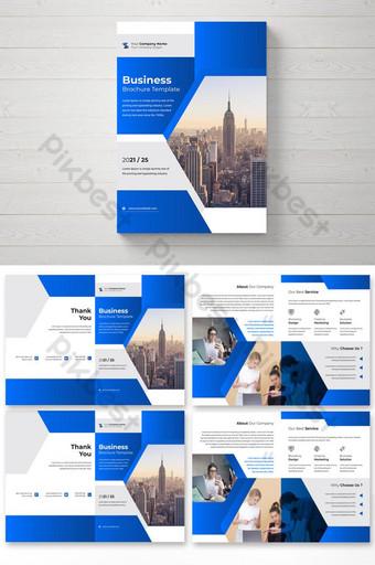 Modèle de conception de brochure d'entreprise professionnelle Modèle AI