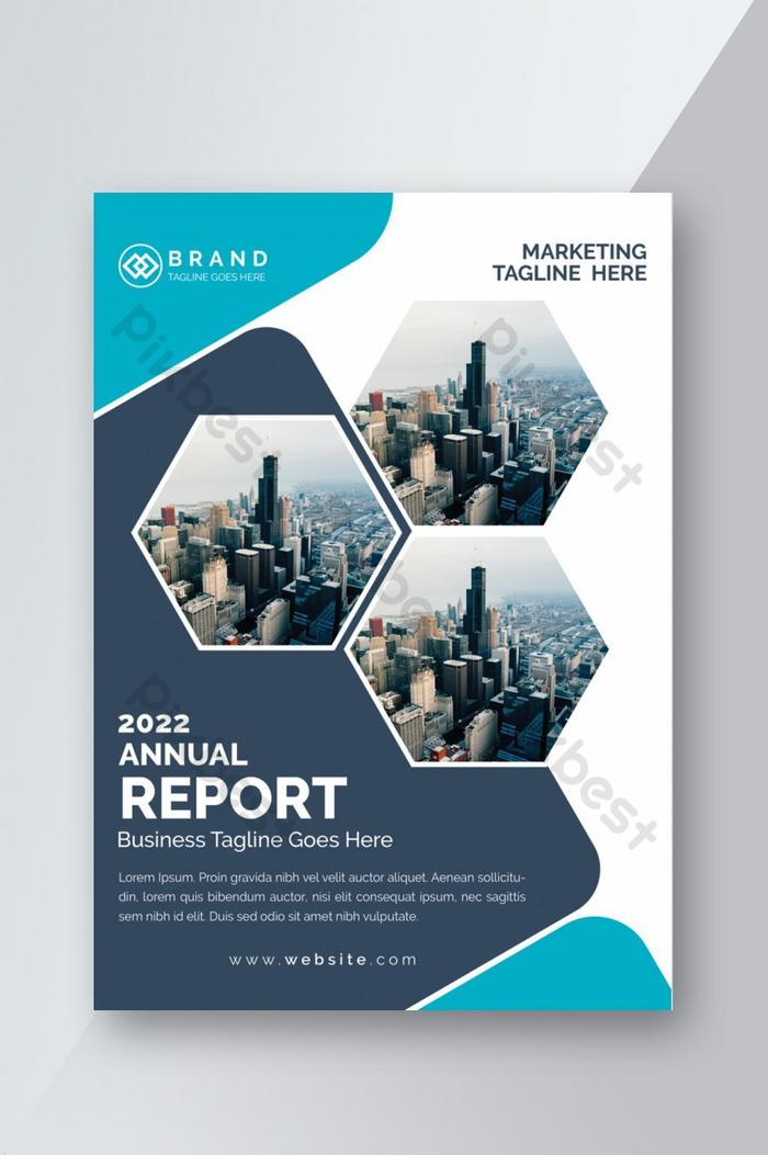 企業の年次報告書は、プレゼンテーションテンプレートのデザインをカバーしています