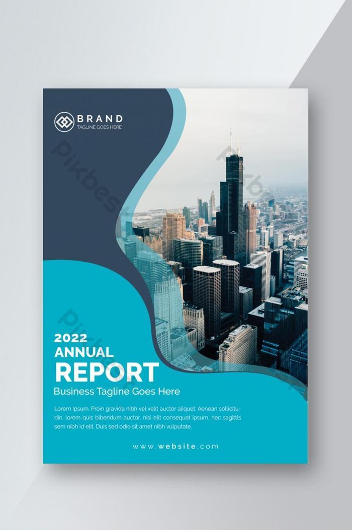 brochure aziendale relazione annuale copertina modello di presentazione