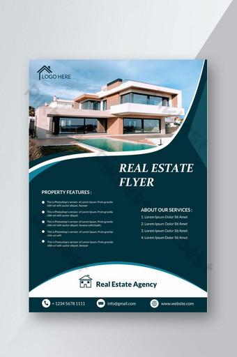 Dépliant de promotion immobilière moderne Modèle PSD