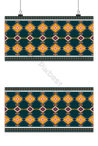 Abstract orange and red geometric native pattern seamless vector.Repeating geometric Backgrounds Template AI