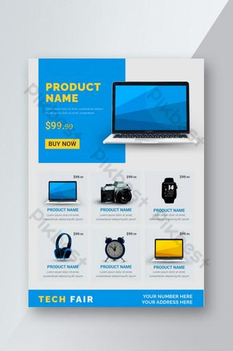 مجموعة الأدوات الذكية ، نشرة ترويجية لمنتجات معرض التكنولوجيا قالب EPS