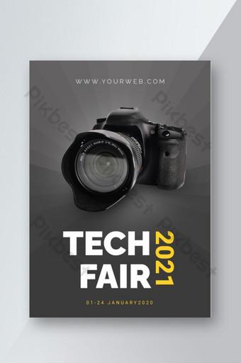 dépliant de promotion de produits du salon de la technologie de la collection de gadgets Modèle EPS