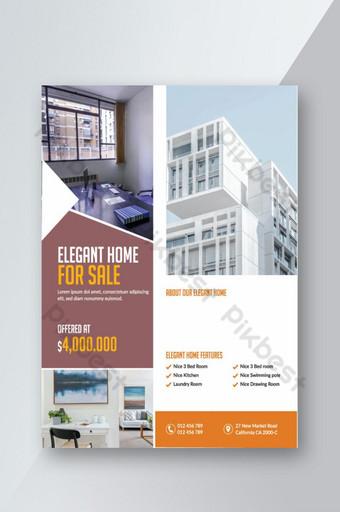 Conception de flyer immobilier maison design très unique Modèle EPS