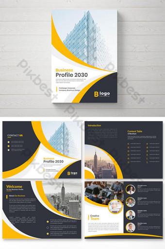 desain tata letak template profil perusahaan Templat AI