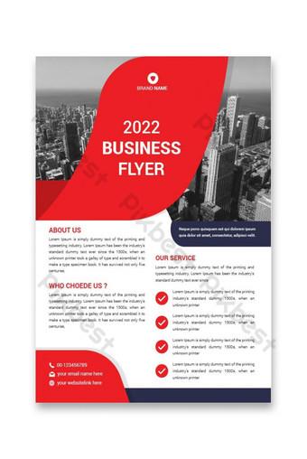 plantillas de diseño de folletos de negocios plantillas de diseño de folletos corporativos color rojo Modelo AI