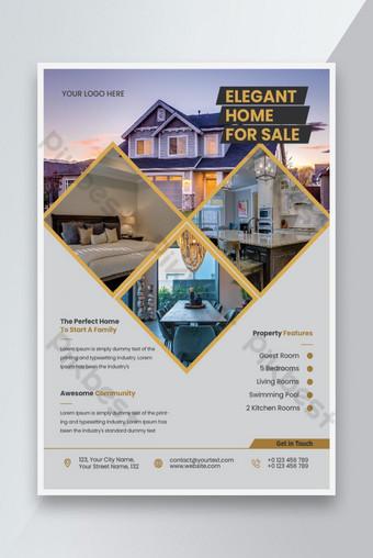 modèle de flyer immobilier vente maison styliste élégant Modèle AI