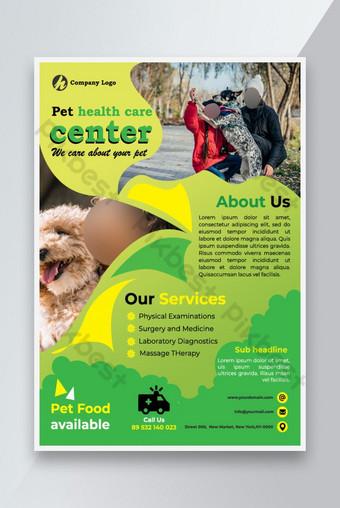dépliant de soins de santé pour animaux de compagnie Modèle PSD