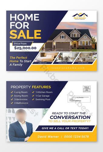 maison moderne à vendre modèle de carte postale immobilière et publipostage eddm Modèle PSD