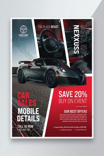 modèle de flyer de vente de voitures psd Modèle PSD