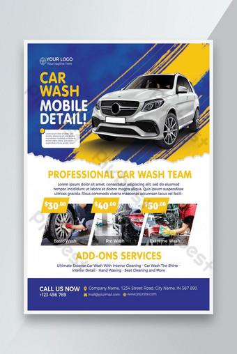 Car Wash Flyer Template PSD Template PSD