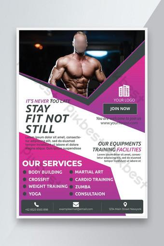 modèle de flyer de fitness musculation Modèle PSD