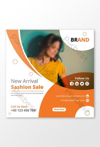baru kedatangan fashion sale banner fashion template postingan media sosial Templat EPS