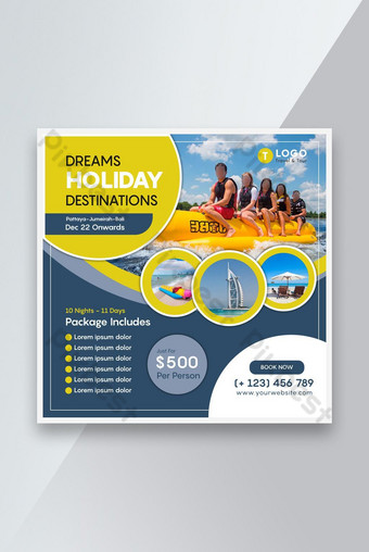 Travel and Tour Social Media Tamplate Template AI