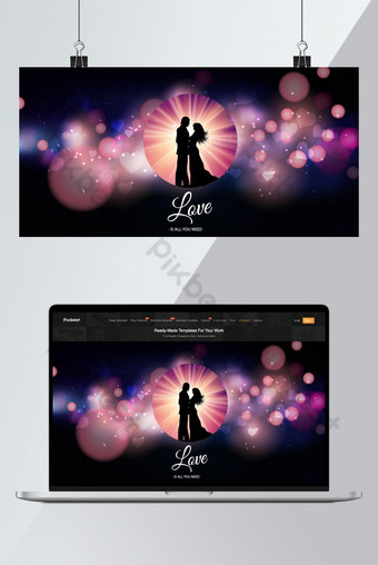Plantillas de diseño de fondo de pareja de amor Fondos Modelo AI