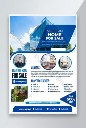 modèle de flyer nouvelle maison moderne à vendre Modèle AI