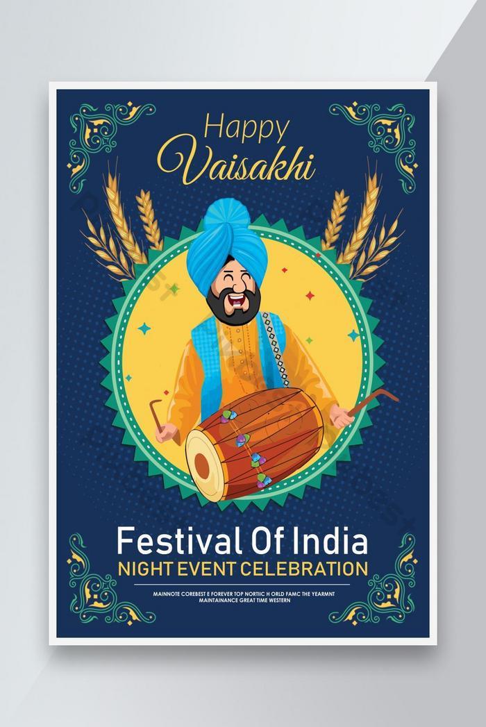 affiche du festival vaisakhi heureux