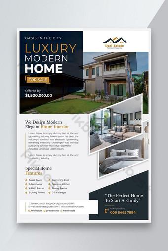 maison moderne de luxe à vendre dépliant immobilier Modèle PSD
