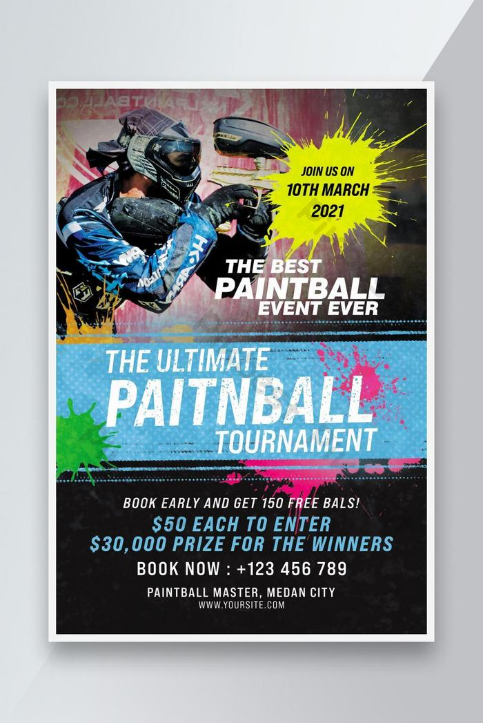 paint ball competition flyer