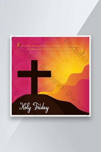 diseño de publicaciones de redes sociales de viernes santo Modelo EPS