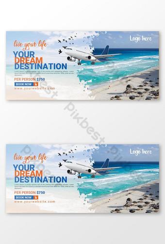 banner facebook templat pelancongan Templat PSD
