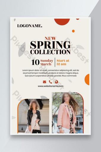flyer de vente de mode de printemps Modèle PSD