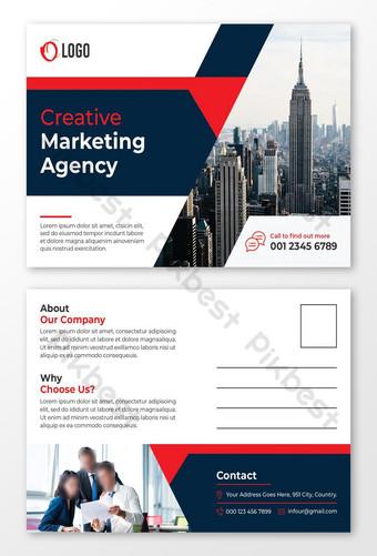 modèle de conception de carte postale professionnelle Modèle PSD